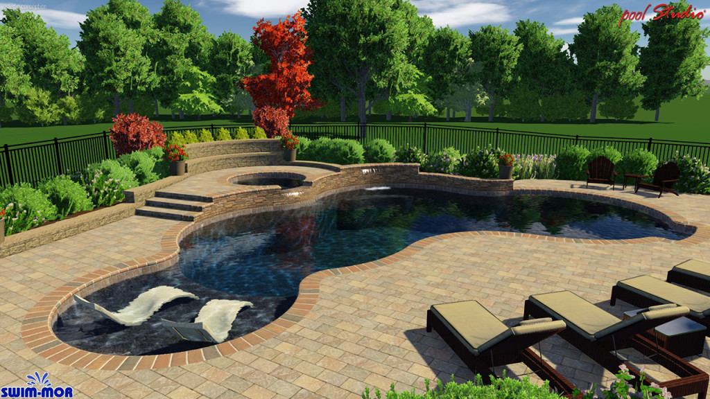 custom pool designs swim mor pools spas