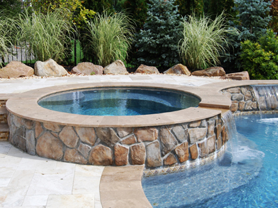 Swimming pool spa designs