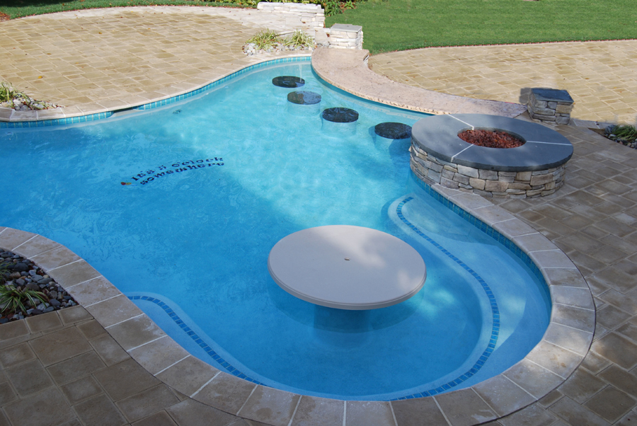 Pool bar stools tables pool furniture swim mor pools for Poolside table and chairs