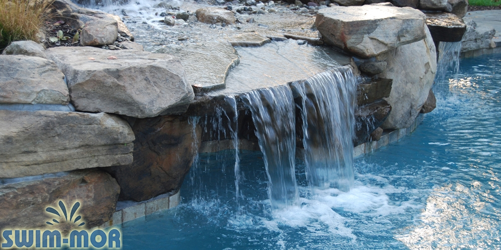 Swimming Pool Rock Waterfalls Swim Mor Pools And Spas