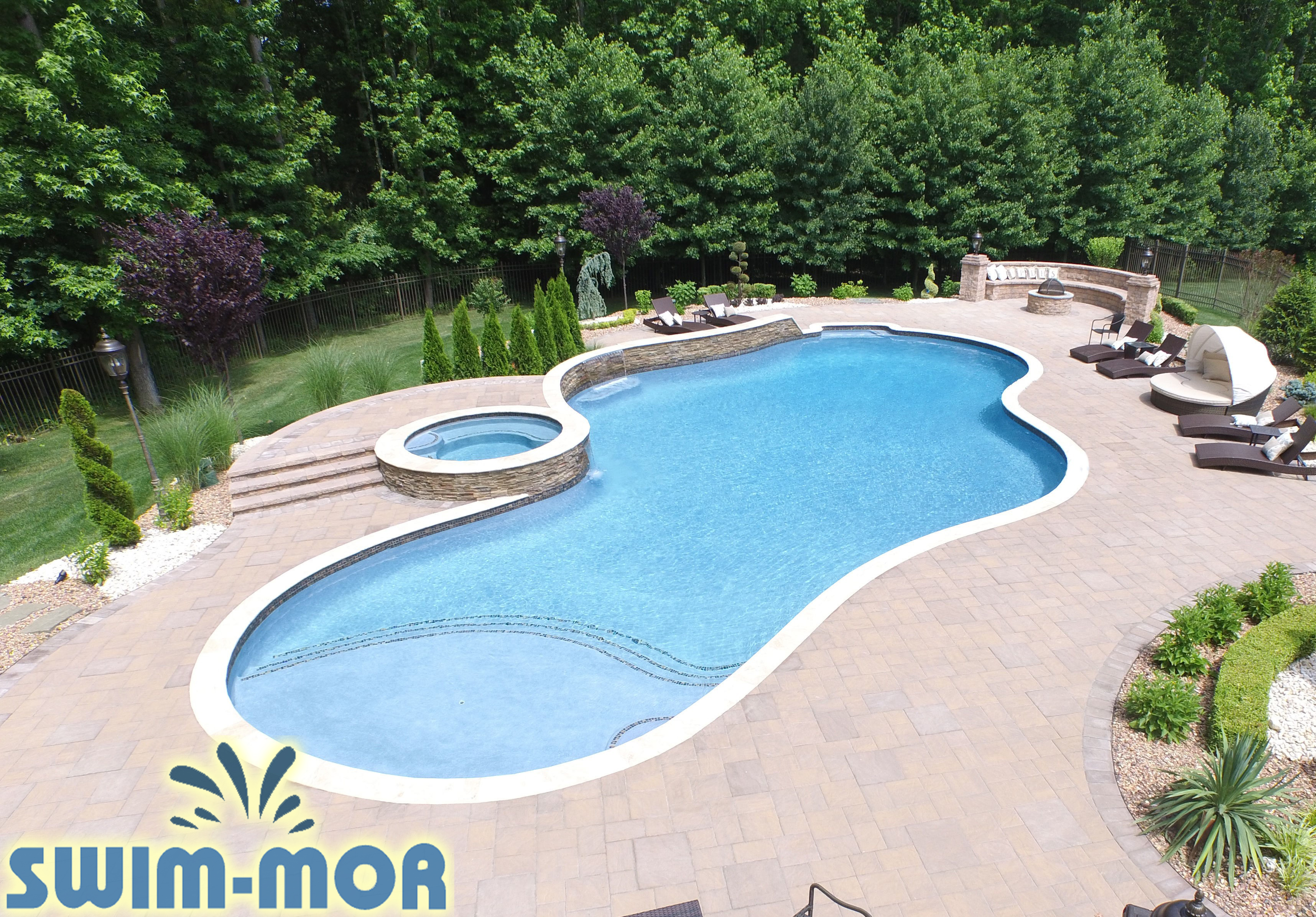Free form pool designs swim mor pools and spas for Pool design program