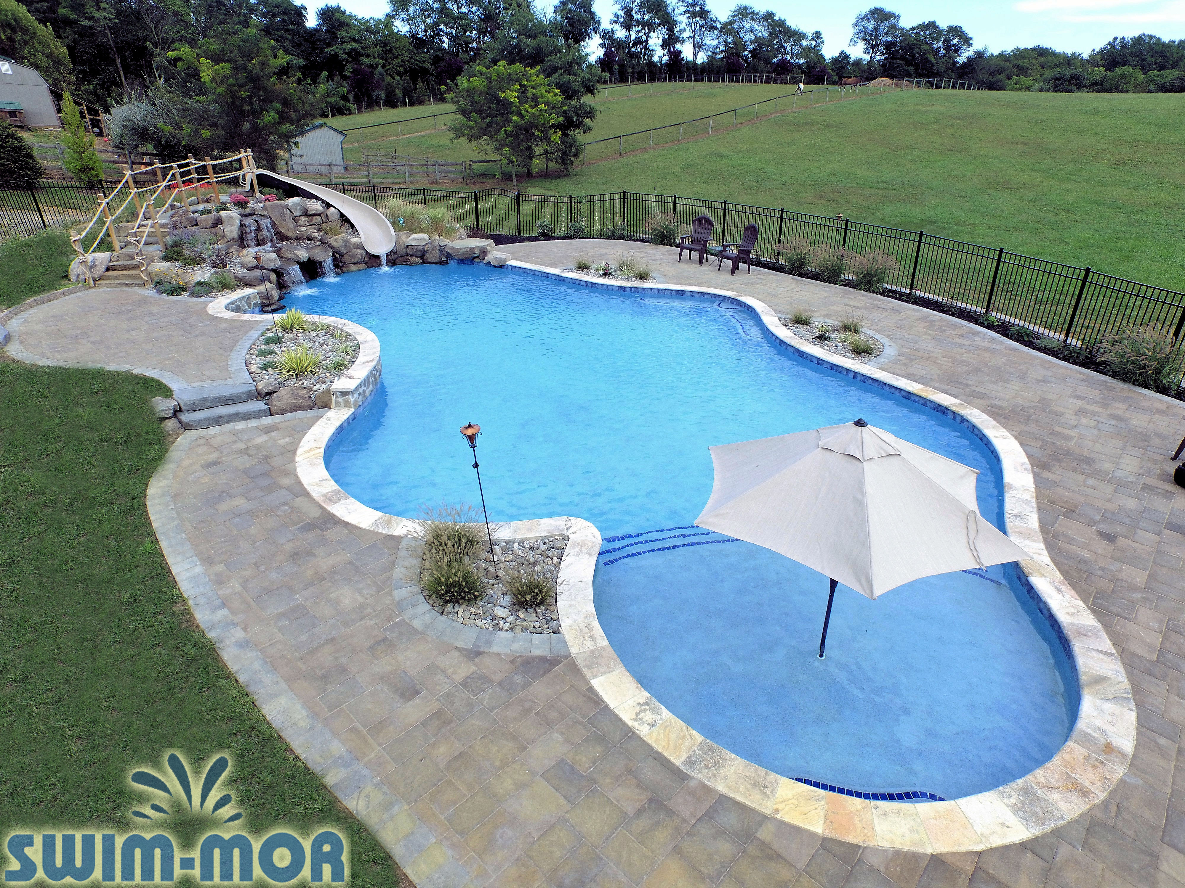 Free Form Pool Designs | Swim-Mor Pools and Spas