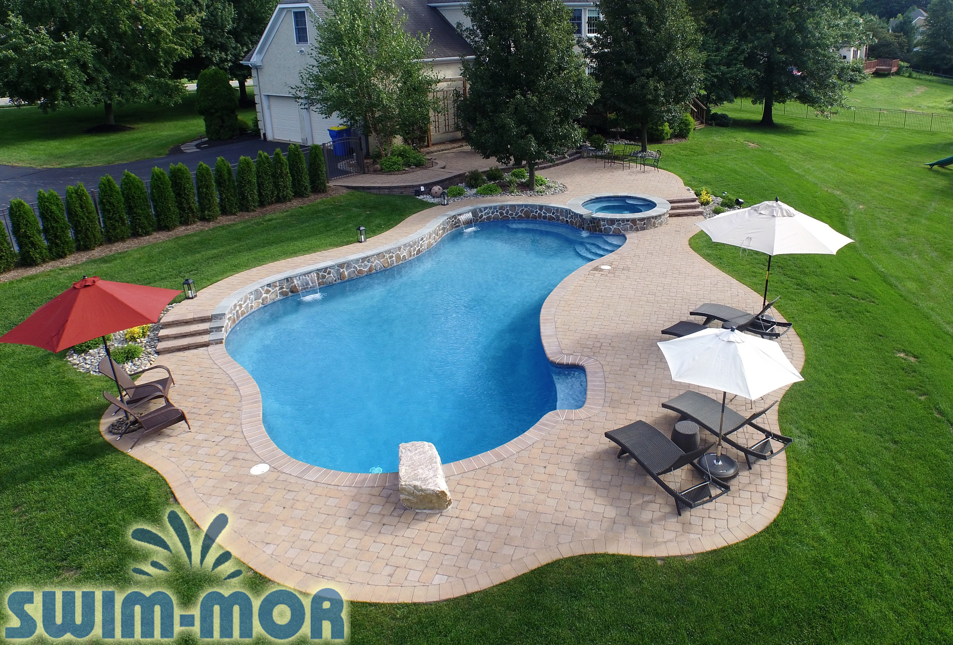 Free Form Pool Designs Swim Mor Pools And Spas