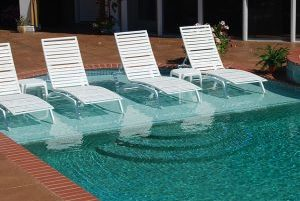 Pool Sun Shelf idea
